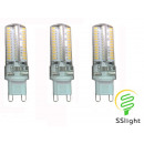 grossiste Ampoules: LED G9 lampe 230V  Cool White 96x3014SMD