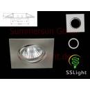 Miejsca LED rama montażowa nikiel satyna 4-kwadrat