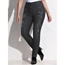 wholesale Jeanswear: Jeans with pearls and decorative stones in the fro