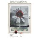 Raffrollo mit Digitalprint Blume 100 cm lang