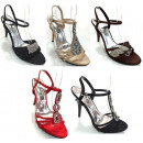 wholesale Shoes: Festive ladies satin sandals