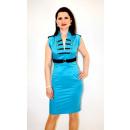 28 Jane Elegantes  Kleid in Matrosenoptik