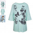 Shirt mit Schmetterlingsmotiven