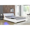 LED Bett SEOUL Doppelbett Polsterbett Weiß 140x200