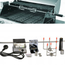 wholesale Barbecue & Accessories: 93cm chrome rotisserie spit for Gas Grill