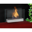 wholesale Burning Stoves: OXFORD bioethanol fireplace Steel Silver Gelkamin