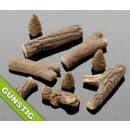 Großhandel Kaminöfen: Gel Kamin Keramik  Holz Bio Ethanol 9 Stück BRAUN