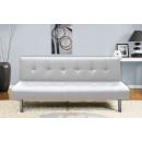 Canapé DELHI canapé-lit divan pliant BLANC en cuir