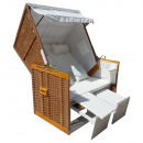 wholesale Garden & DIY store: XXL beach chair  Vollieger Two Seater Light Brown
