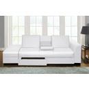 Canapé CAIRO canapé-lit divan pliant BLANC en cuir