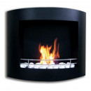 wholesale Burning Stoves: London Gelkamin Black Stainless Steel Bio