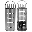 wholesale Burning Stoves: Fireplace set stainless steel (5 parts)
