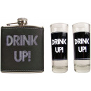 wholesale Lunchboxes & Water Bottles: Hip flask with 2 shot glasses