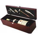 Wine set in wooden box (6 pieces)