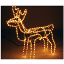 Light snake reindeer 62x61 cm