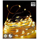 Silver wire 100LED - with timer