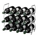 Stapelbare Weinregal für 12 Flaschen (3 Stück)
