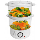 Electric steamer, 2x 2.6 liters