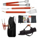 Apron with  barbecue utensils (4 pieces)
