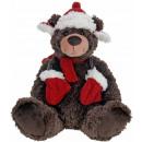 Plush Christmas bear - 30 cm