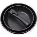 grossiste Pots & Casseroles: Set 2 casseroles  avec poignée amovible.
