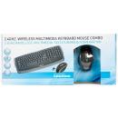 groothandel Beeldschermen: 2.4 GHZ Draadloos multimediatoetsenbor d/muis