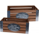 Wooden crates - set of 2