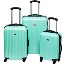 groothandel Koffers & trolleys: Penn Trolleyset  ABS pastel groen (3 dlg)