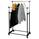 Mobile double clothes rack (86x42x170)