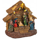 Christmas crib with illumination