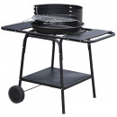 wholesale Garden & DIY store: Mobile barbecue / grill with 2 side tables