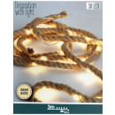 Jute rope with LED lighting - 3 meters