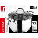wholesale Pots & Pans: Stainless steel  pan 24cm - 5.6 liters
