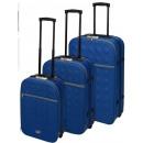 ingrosso Valigie &Trolleys: Valigie da viaggio con serratura 3 pezzi blu