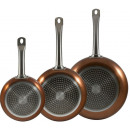 Cake pan set Copper 20, 24 and 28 cm