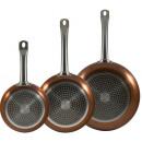 groothandel Huishouden & Keuken: Koekenpanset Copper 20, 24 en 28 cm