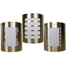 Roestvrijstalen  buitenlamp (3 designs)