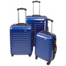 wholesale Suitcases & Trolleys: Trolleyset ABS blue (3 pcs)