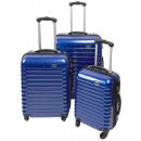 ingrosso Valigie &Trolleys: Trolleyset ABS blu (3 pezzi)