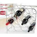 Metall-Weinregal für 12 Flaschen