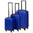 Großhandel Koffer & Trolleys: Trolley-Set ABS blau (3-tlg)