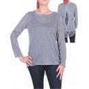 wholesale Pullover & Sweatshirts:Yoke PULL LACE GREY S04