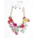 Großhandel Ohrringe: Halskette +  Ohrringe 160 032 Multicolor