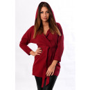 wholesale Coats & Jackets: LIGHT JACKET HOODED BORDEAUX 5115