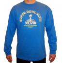 Großhandel Fashion & Accessoires: NFL-Stadien blauen  langärmeligen T-Shirt, ein Holo