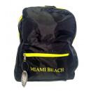 groothandel Rugzakken: Miami Beach rugzak, zwart