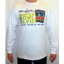 Großhandel Fashion & Accessoires: NFL langärmeligen  T-Shirt, weiß Hologramm