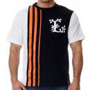 Großhandel Fashion & Accessoires: LRG T-Shirt mit  schwarz und orange Streifen