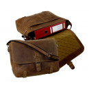 groothandel Handtassen: Messenger /  OUD-SCHOOL - (25 )-Vintage- bruin