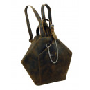Rucksack-Citybag / OLD-SCHOOL - (25)-vintage-brown